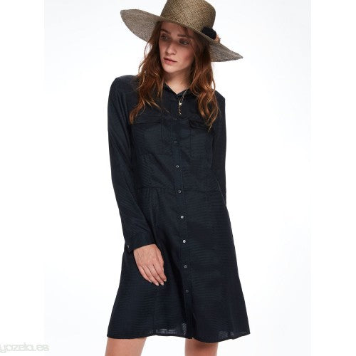 Fitted Waist Shirt Dress