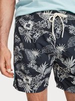 Mid length Print Swim Short