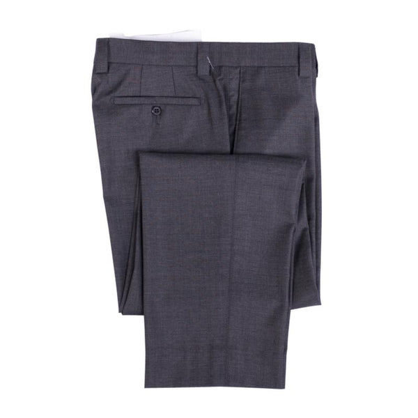 Zanella Pants Dean Charcoal Gray Wool Flat Front