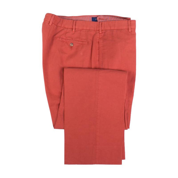 Incotex Pant Size 38 Chino Lino Burnt Orange Flat Front