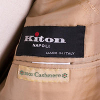 Kiton Sport Coat New Imperfect Size 42 Beige Cashmere Hand Made