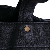 Salvatore Ferragamo Tote Bag Large Black Pebbled Leather