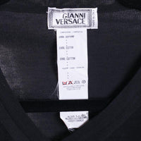 Gianni Versace V-Neck Size 44 (54) Black Knit Cotton