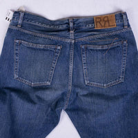 RRL Jeans Size 36 Straight Fit Med Wash Made in Japan