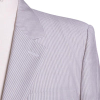 Marc Jacobs Suit Size 54 Italy Men's Light Gray Stripe Wool Blend