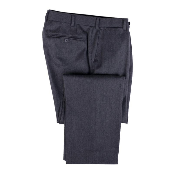 Hiltl Dress Pant Size 34 x 31 Dark Gray Wool Flat Front