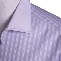 Stefano Ricci Luxury Dress Shirt in Violet Striped Cotton