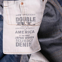 RRL Jeans Size 34 Low Straight Distressed Japan Selvage