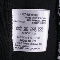 Number Nine Pants Size 3 Black Corduroy Zip Spring '07