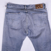 RRL Jeans Size 34 Light Wash Selvedge Low Straight Fit