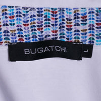 New Bugatchi Polo Shirt Solid White Soft Mercerized Cotton