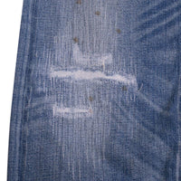 RRL Jeans Size 36 Slim Fit Selvedge Distressed Light Wash