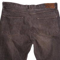 RRL Jeans Size 36 Brown Gray Straight Japanese Selvedge Denim