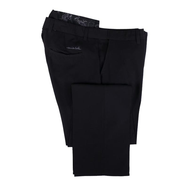 Travis Matthew Golf Pants Size 38 Men's Black Flat Front