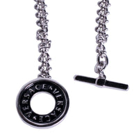 Gianni Versace Pocket Watch Chain in Polished Silver Tone
