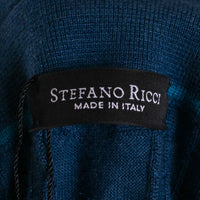 Stefano Ricci Polo Sweater Size 42 (52) Teal Green Cashmere