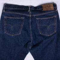 RRL Jeans Size 36 Dark Blue Straight Fit Japan Selvedge