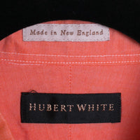 SGA for Hubert White Shirt Mens XL Pastel Coral Orange