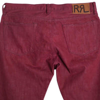 RRL Jeans Size 34 x 32 Crimson Red Selvedge Slim Fit
