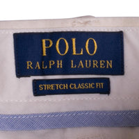 Polo Shorts in Cream Beige Stretch Cotton Twill Classic Fit 9