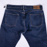 RRL Jean Size 36 Dark Blue Japan Selvedge Straight Fit