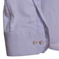 Eton Dress Shirt Size 16 Slim Fit Blue Pin Dot Cutaway