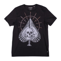 New Guess T-Shirt Skull / Swords Graphic Made in Peru
