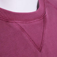 Fred Perry Terry Sweatshirt Size L Washed Red Raglan Sleeve