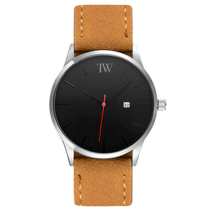 The Minimalist - Silver / Black / Brown - TimeWise Watch Co.