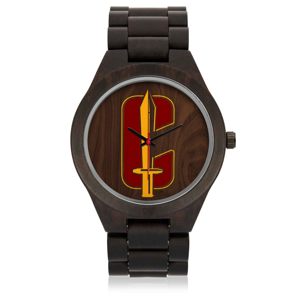 "CHARGED ""C"" Wood Watch"