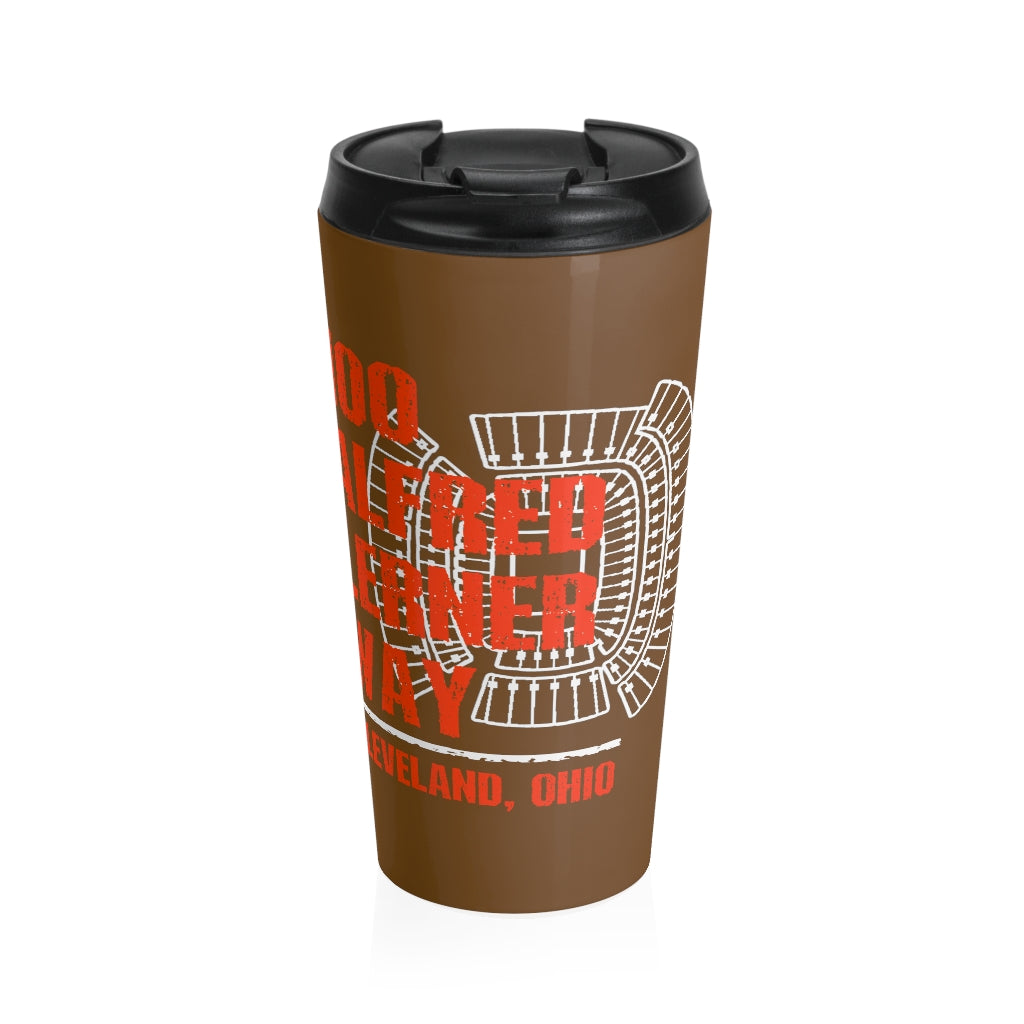 100 ALFRED LERNER WAY Stainless Steel Travel Mug