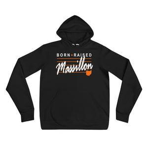 BORN AND RAISED IN MASSILLON Unisex hoodie