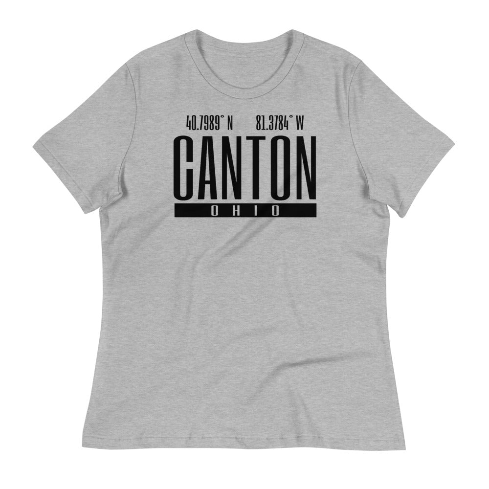 CANTON OHIO COORDINATES Women's Relaxed T-Shirt