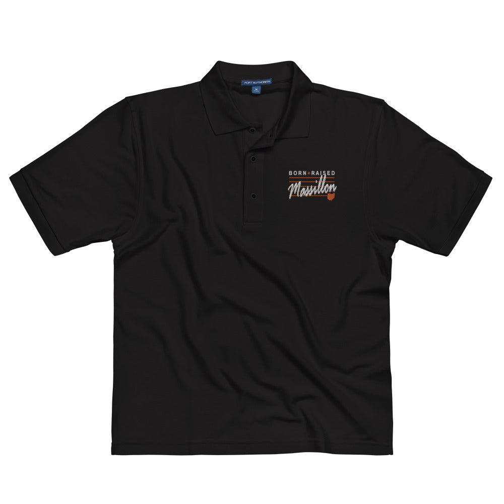 BORN AND RAISED IN MASSILLON Men's Premium Polo