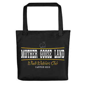 MOTHER GOOSE LAND WHALE WATCHERS CLUB Tote bag