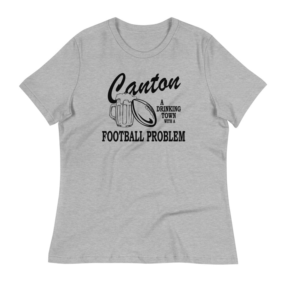 A DRINKING TOWN Women's Relaxed T-Shirt