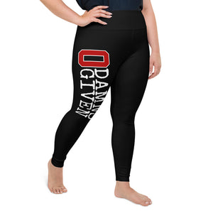 ZERO DAMNS GIVEN All-Over Print Plus Size Leggings