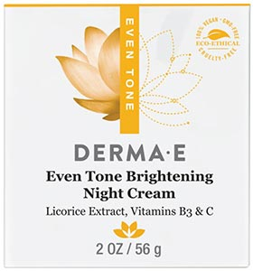 DermaE Natural Bodycare Evenly Radiant Night Crème