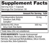 Dr. Mercola Berberine and MicroPQQ Ingredients