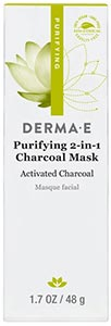 DermaE Natural Bodycare Purifying 2-in-1 Charcoal Mask 48 g