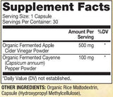 Dr. Mercola Apple Cider with Cayenne Ingredients