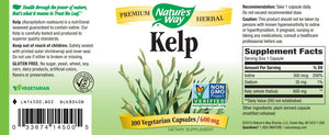 Nature's Way Kelp 600 mg
