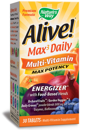 Nature's Way Alive! Max3 Daily Multi-Vitamin with iron