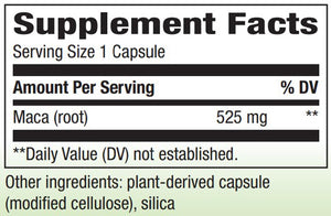 Nature's Way Maca Root 525 mg