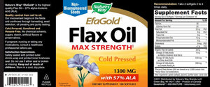Nature's Way Efagold Flax Oil 1300 mg
