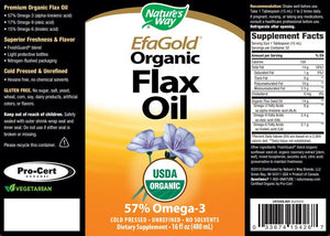 Nature's Way EfaGold® Organic Flax Oil