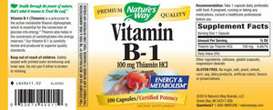 Nature's Way Vitamin B1