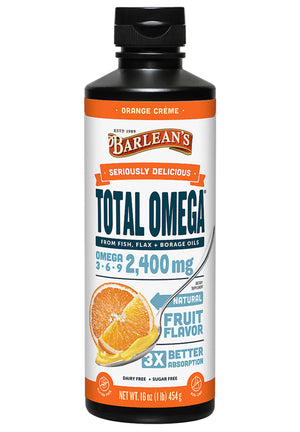 Barlean's Organic Oils Seriously Delicious™ Total Omega® Orange Crème