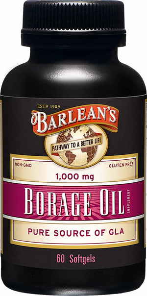 Barlean's Organic Oils Borage Oil 1000 mg Softgels