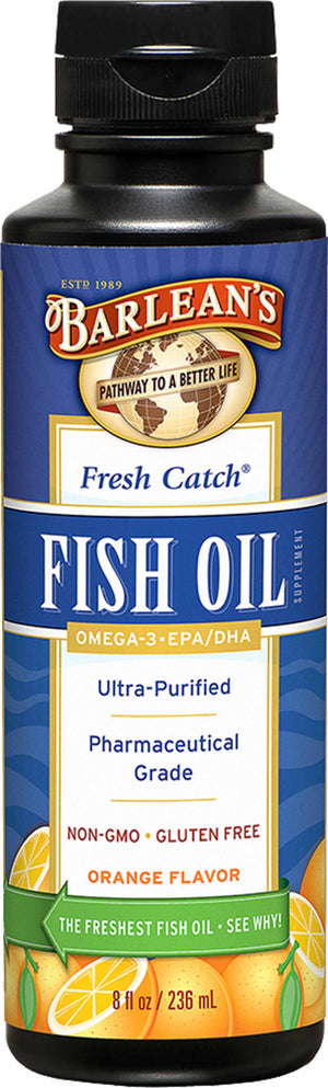 Barlean's Organic Oils Fresh Catch® Orange Flavor Fish Oil